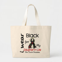 Skin Cancer I Wear Black For My Daughter-In-Law 43 Large Tote Bag