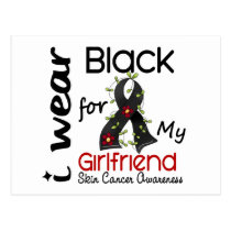 Skin Cancer I Wear Black For My Girlfriend 43 Postcard