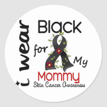 Skin Cancer I Wear Black For My Mommy 43 Classic Round Sticker