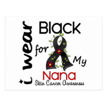 Skin Cancer I Wear Black For My Nana 43 Postcard