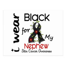 Skin Cancer I Wear Black For My Nephew 43 Postcard