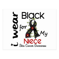 Skin Cancer I Wear Black For My Niece 43 Postcard