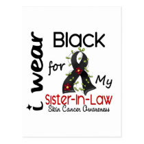 Skin Cancer I Wear Black For My Sister-In-Law 43 Postcard