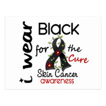 Skin Cancer I Wear Black For The Cure 43 Postcard