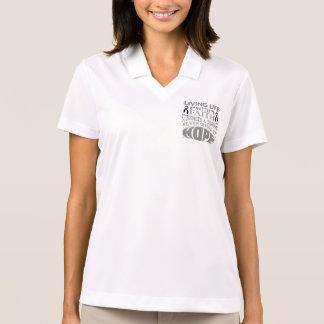 Skin Cancer Living Life with Faith Polo T-shirts