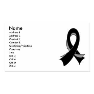 Skin Cancer Melanoma Stylish Ribbon Business Card
