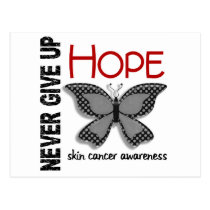 Skin Cancer Never Give Up Hope Butterfly 4.1 Postcard