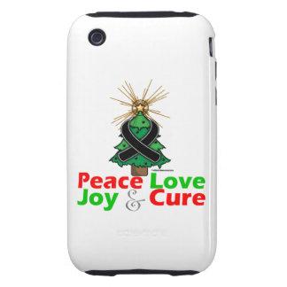 Skin Cancer Peace Love Joy Cure Tough iPhone 3 Cover