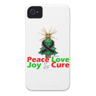 Skin Cancer Peace Love Joy Cure iPhone 4 Case-Mate Case