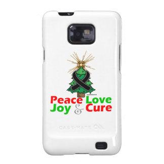 Skin Cancer Peace Love Joy Cure Samsung Galaxy S2 Cover