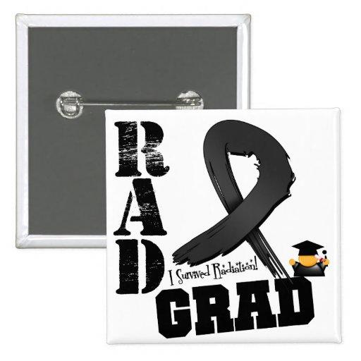 Skin Cancer Radiation Therapy RAD Grad 2 Inch Square Button