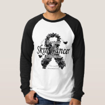 Skin Cancer Ribbon of Butterflies T-Shirt