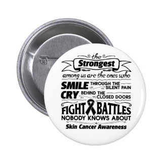 Skin Cancer Strongest Among Us Button