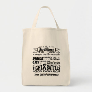 Skin Cancer Strongest Among Us Tote Bag