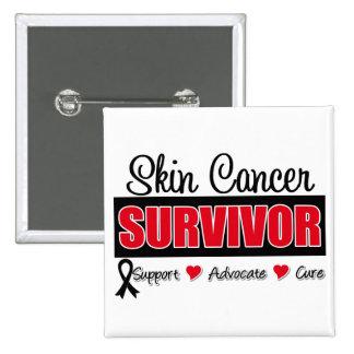 Skin Cancer Survivor Badge Ribbon Pin