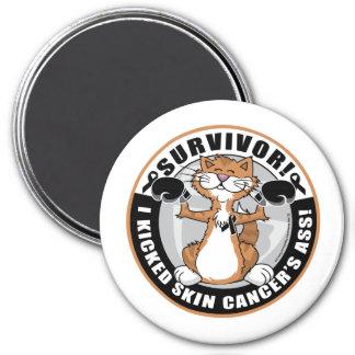 Skin Cancer Survivor Boxing Cat Magnet