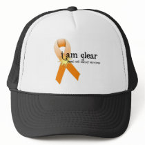 Skin Cancer Survivor D6 :: I am clear.... Trucker Hat