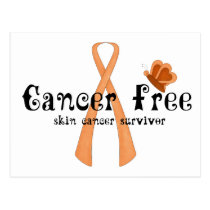 Skin Cancer Survivor D8 :: Cancer Free Butterfly Postcard