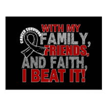 Skin Cancer Survivor Family Friends Faith Postcard
