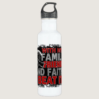 Skin Cancer Survivor Family Friends Faith Water Bottle