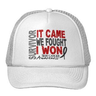 Skin Cancer Survivor It Came We Fought I Won Trucker Hat