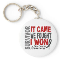 Skin Cancer Survivor It Came We Fought I Won Keychain