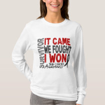 Skin Cancer Survivor It Came We Fought I Won T-Shirt