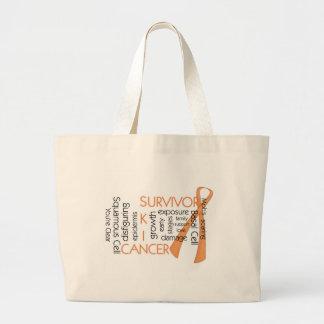 Skin Cancer Survivor Large Tote Bag