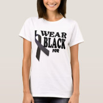 Skin Cancer T Shirt I wear Black for Template