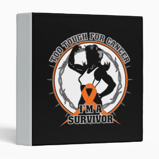Skin Cancer Too Tough For Cancer 3 Ring Binders