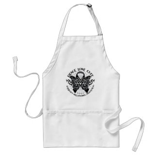 Skin Cancer Tribal Butterfly 2 Adult Apron