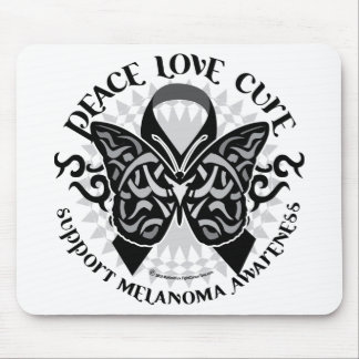 Skin Cancer Tribal Butterfly Mouse Pad