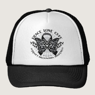 Skin Cancer Tribal Butterfly Trucker Hat