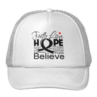 Skin Cancer Typographic Faith Love Hope Trucker Hat