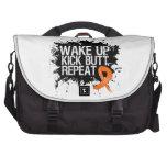 Skin Cancer Wake Up Kick Butt Repeat v2 Computer Bag