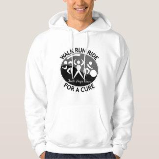 Skin Cancer Walk Run Ride For A Cure Hooded Sweatshirt
