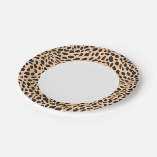 Skin cheetah decor paper plate