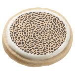 Skin cheetah decor round premium shortbread cookie