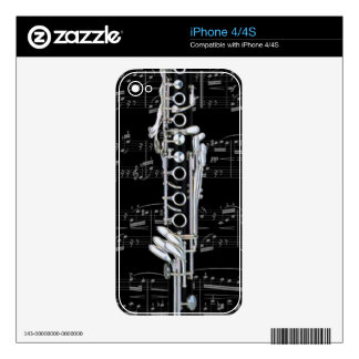 Skin - Clarinet 2 - Pick your color! Decals For iPhone 4S