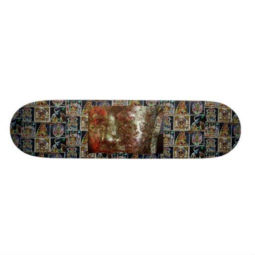 skin gold buda skateboard