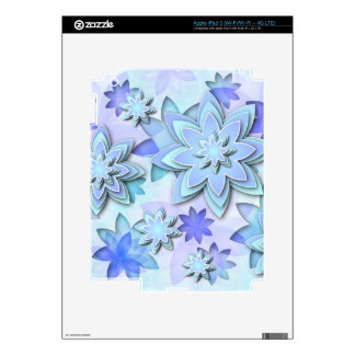 Skin iPad abstract lotus flowers Decals For iPad 3