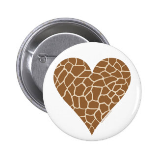 Skin Pattern, Colors of the Giraffe 2 Inch Round Button