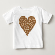 Skin Pattern, Colors of the Giraffe Baby T-Shirt