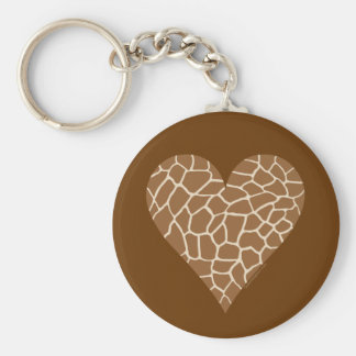 Skin Pattern, Colors of the Giraffe Basic Round Button Keychain