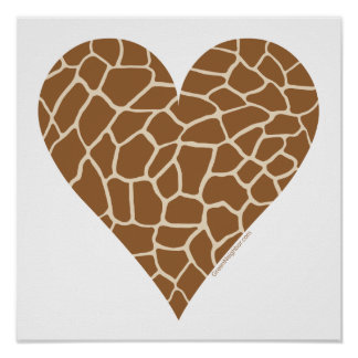 Skin Pattern, Colors of the Giraffe Poster