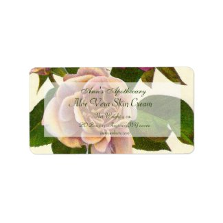 Skin Products or Crafts Label - Rose