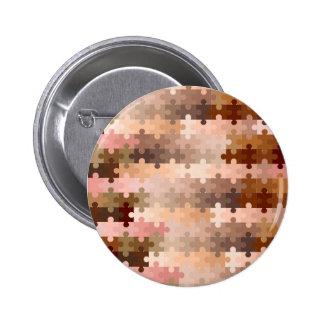 Skin Tone Jigsaw Pieces Button