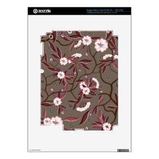 Skin  with decorative flowers iPad 3 skins