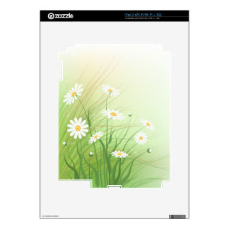 Skin with wild chamomiles picture skins for the iPad 2