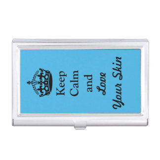 "Skincare Lovers: ""Keep Calm and Love Your Skin"" Business Card Case"